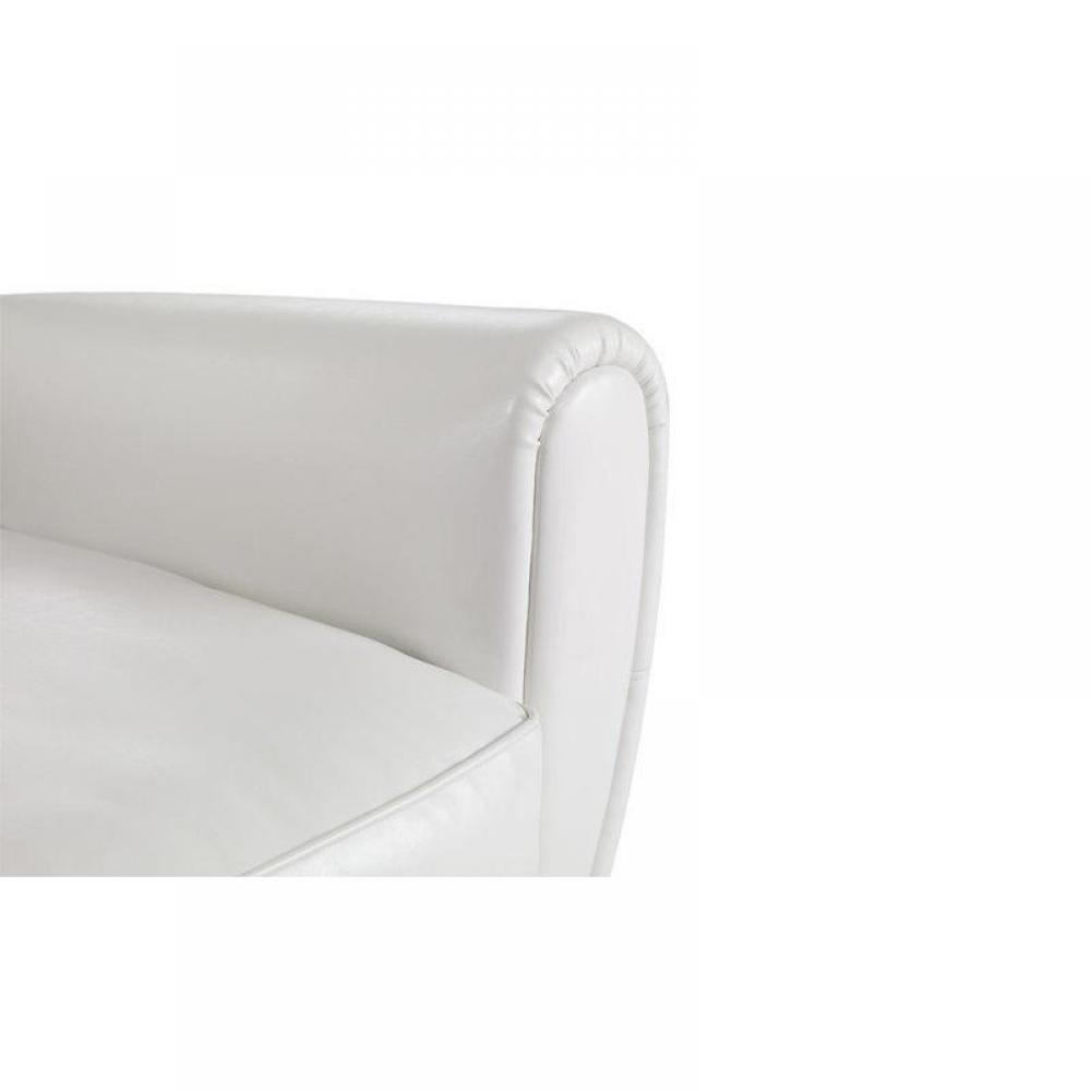 fauteuils club fauteuils et poufs fauteuil club blanc en cuir recycl made in italy inside75. Black Bedroom Furniture Sets. Home Design Ideas