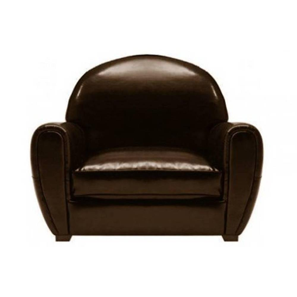fauteuils club fauteuils et poufs fauteuil club marron brillant en cuir rec. Black Bedroom Furniture Sets. Home Design Ideas