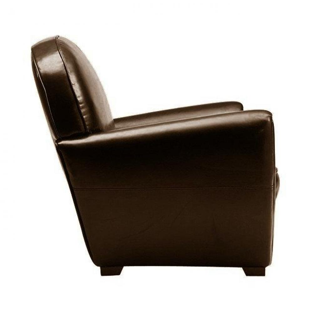 fauteuils club fauteuils et poufs fauteuil club marron brillant en cuir recycl made in italy. Black Bedroom Furniture Sets. Home Design Ideas