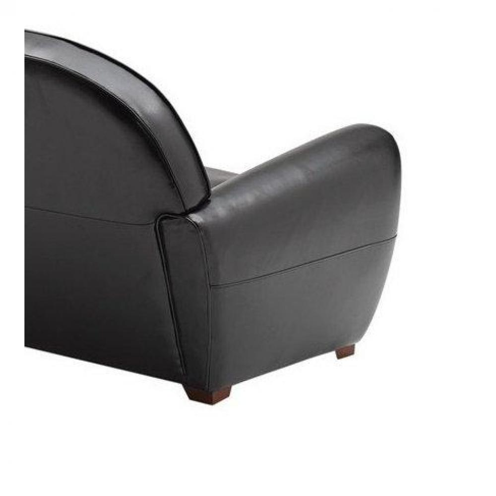 fauteuils club fauteuils et poufs fauteuil club noir brillant en cuir recycl made in italy. Black Bedroom Furniture Sets. Home Design Ideas