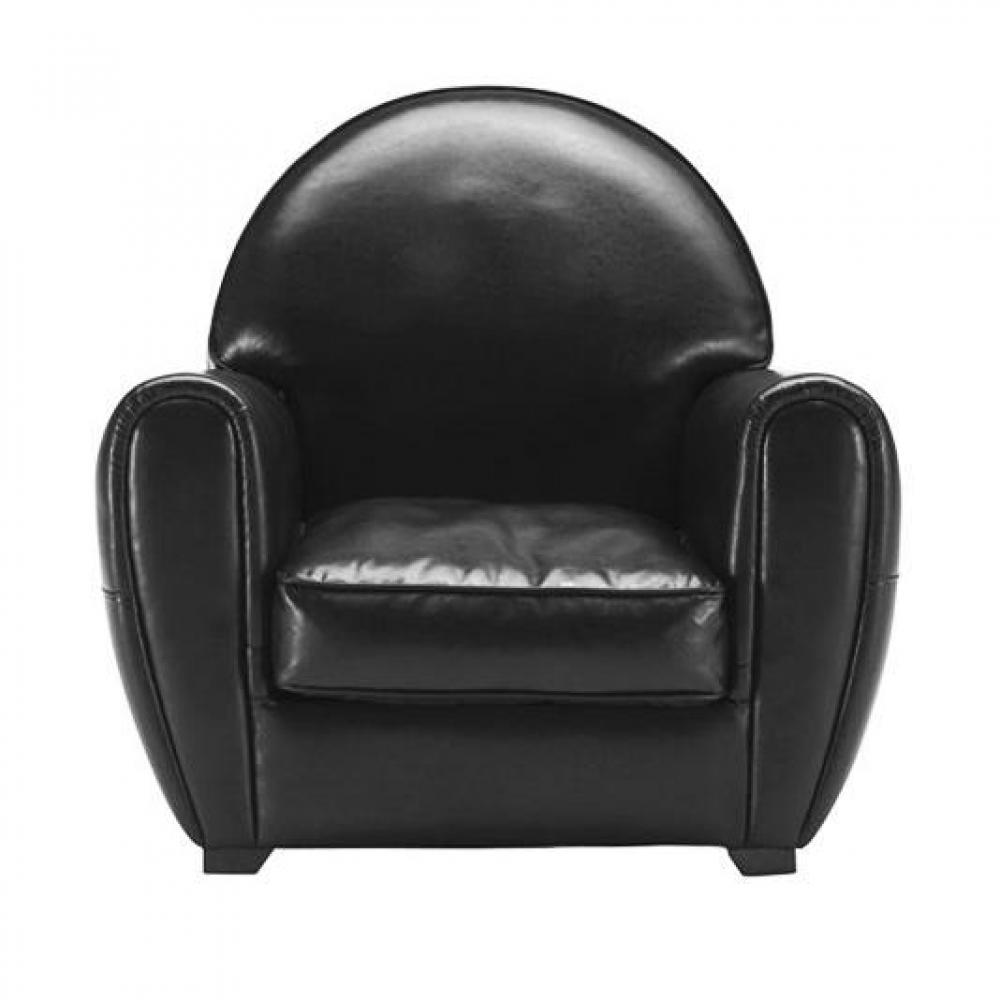 canap s convertibles canap s et convertibles fauteuil design club intemporel en cuir bycast noir. Black Bedroom Furniture Sets. Home Design Ideas