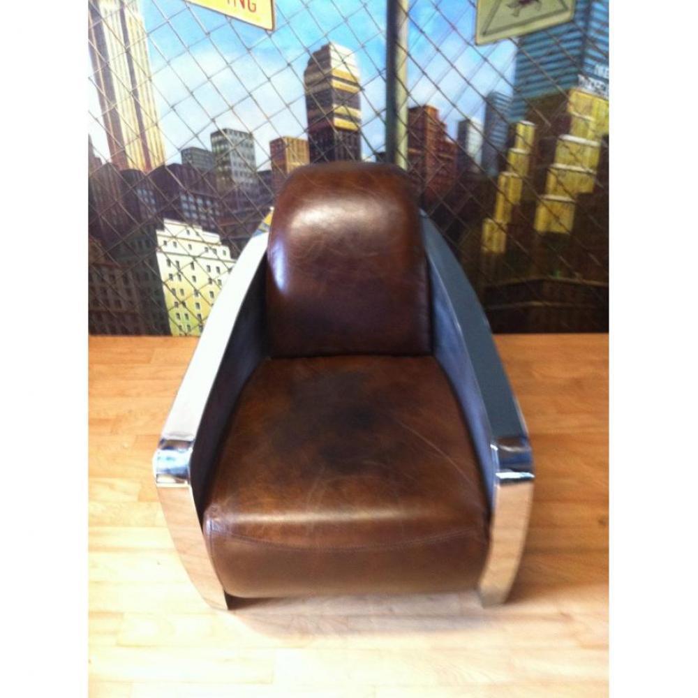 fauteuils design canap s et convertibles fauteuil club prestige en cuir marron vieilli vintage. Black Bedroom Furniture Sets. Home Design Ideas