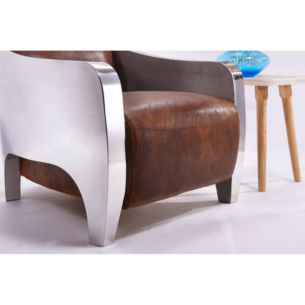 Fauteuils club fauteuils et poufs fauteuil new club prestige aviateur en cu - Fauteuil cuir vieilli vintage ...
