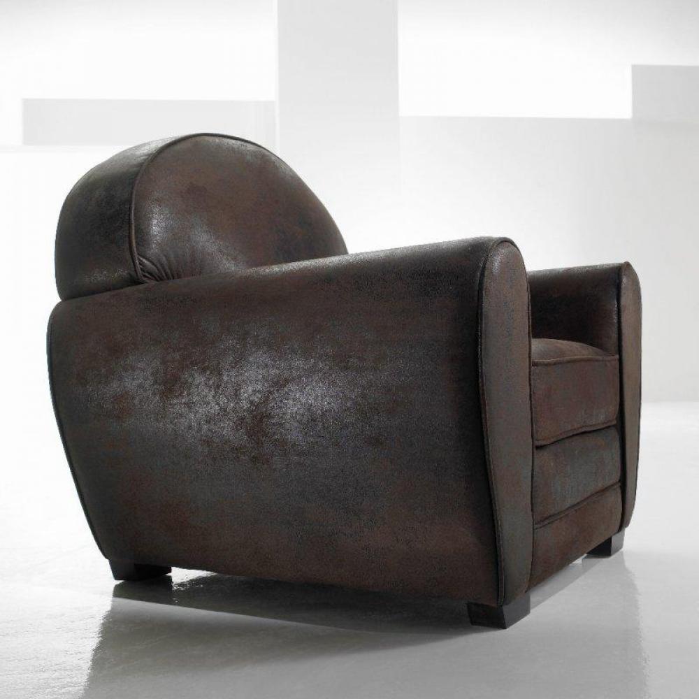 fauteuil club microfibre vintage alaska made in italy ebay. Black Bedroom Furniture Sets. Home Design Ideas