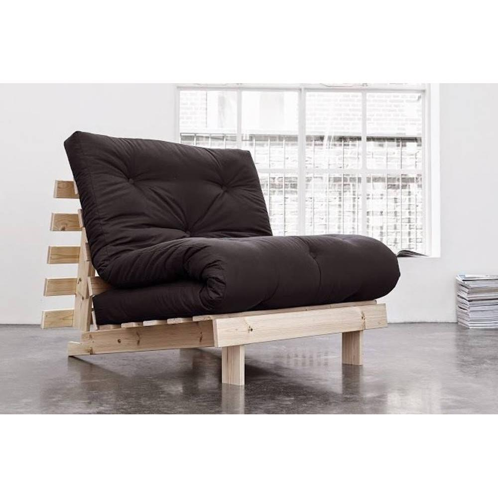 fauteuils futon canap s et convertibles fauteuil bz style scandinave roots natural futon grey. Black Bedroom Furniture Sets. Home Design Ideas