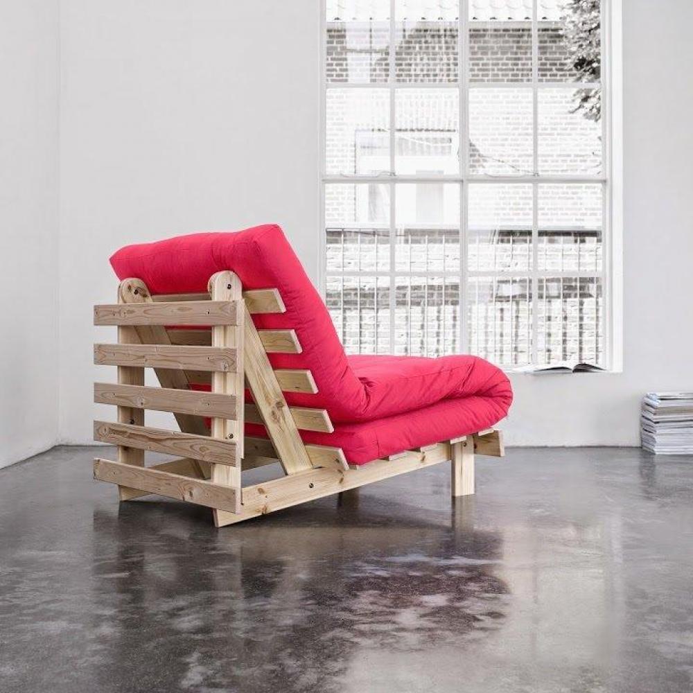 fauteuils futon canap s et convertibles fauteuil bz style scandinave roots natural futon rose. Black Bedroom Furniture Sets. Home Design Ideas