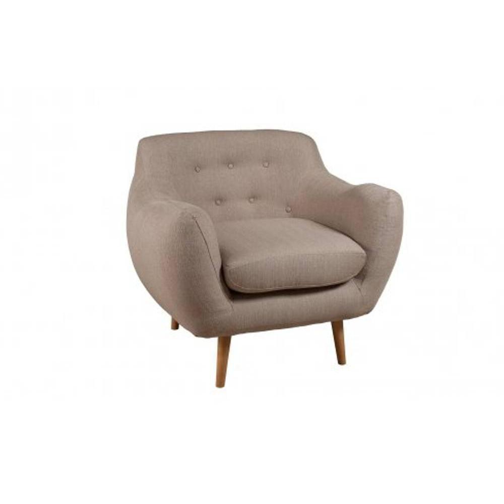 Fauteuils design fauteuils et poufs fauteuil delta en tissu style scandinav - Fauteuil pouf design ...