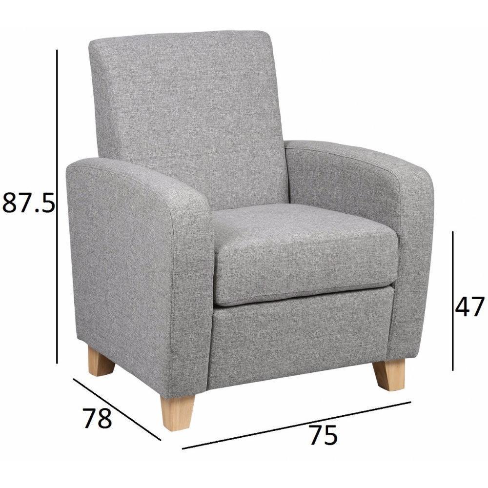 fauteuils et poufs fauteuils et poufs petit fauteuil seated tissu gris inside75. Black Bedroom Furniture Sets. Home Design Ideas