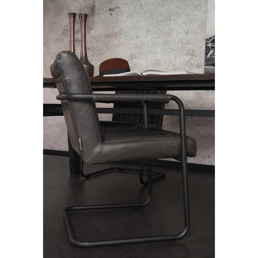 Fauteuils design fauteuils et poufs fauteuil stitched de dutchbone en tissu - Fauteuil design cuir noir ...