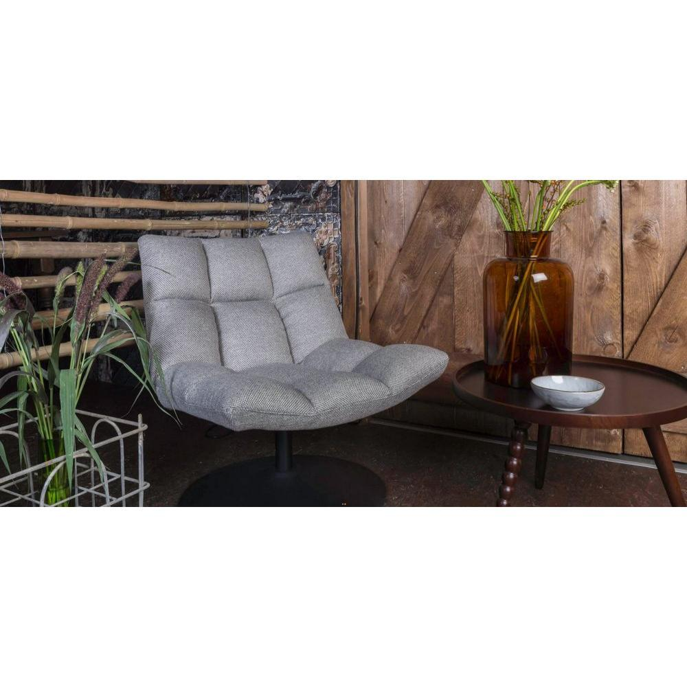 Fauteuils et poufs fauteuils et poufs fauteuil pivotant bar lounge de dutchbone gris clair - Fauteuil pivotant gris ...