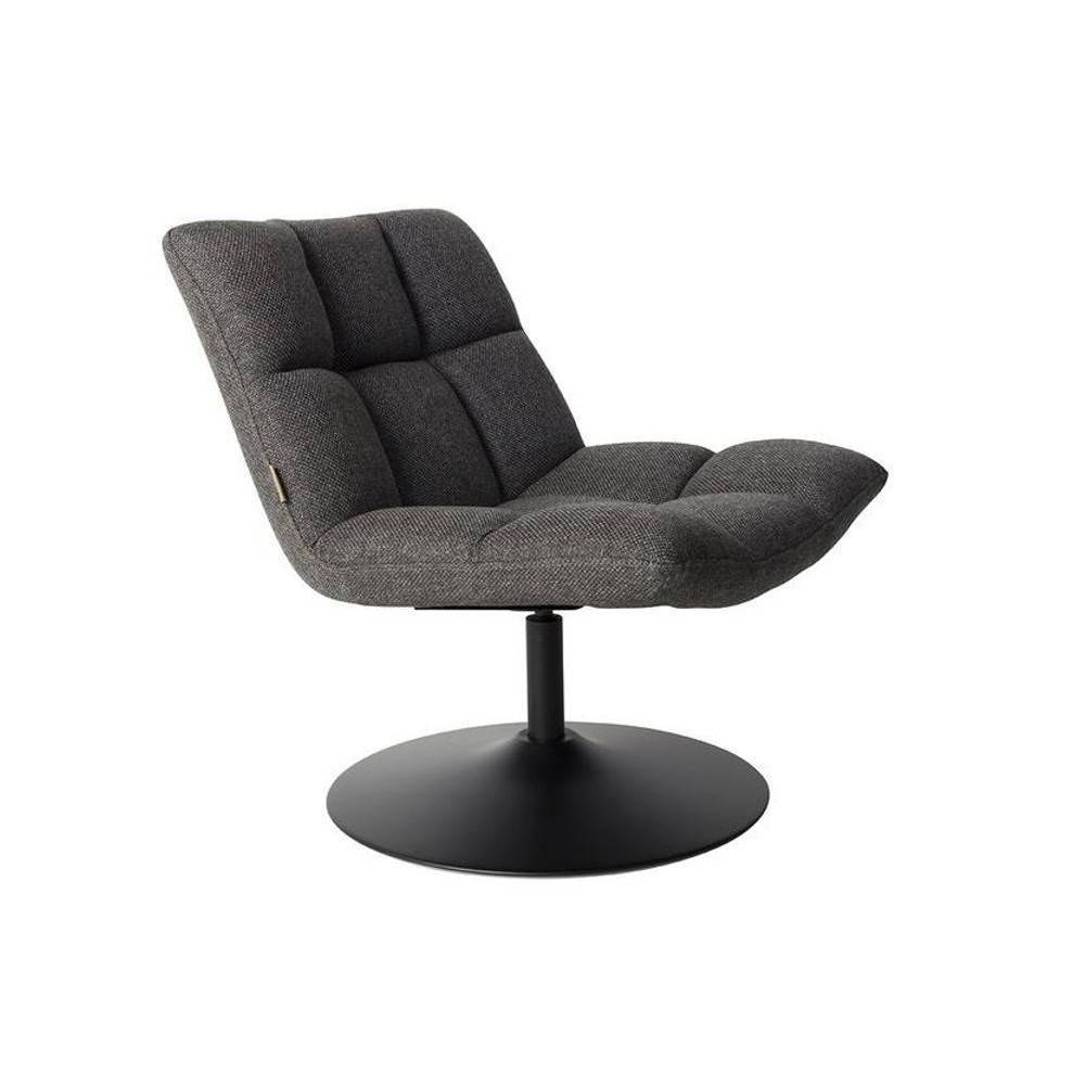 Fauteuils design fauteuils et poufs fauteuil pivotant bar lounge de dutchbone gris fonc - Fauteuil pivotant gris ...