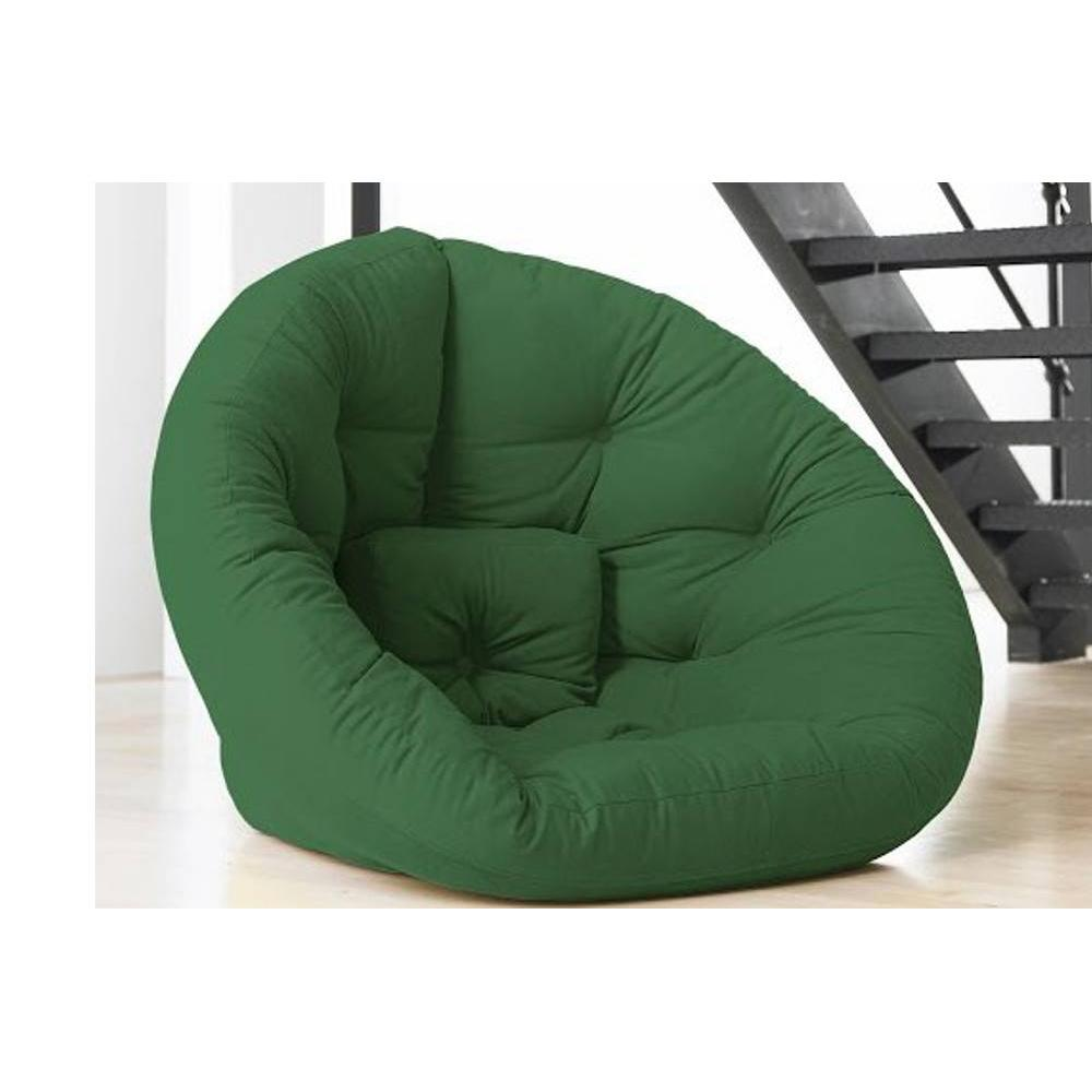 fauteuils futon canap s et convertibles fauteuil futon design nest vert couchage 110 220 14cm. Black Bedroom Furniture Sets. Home Design Ideas