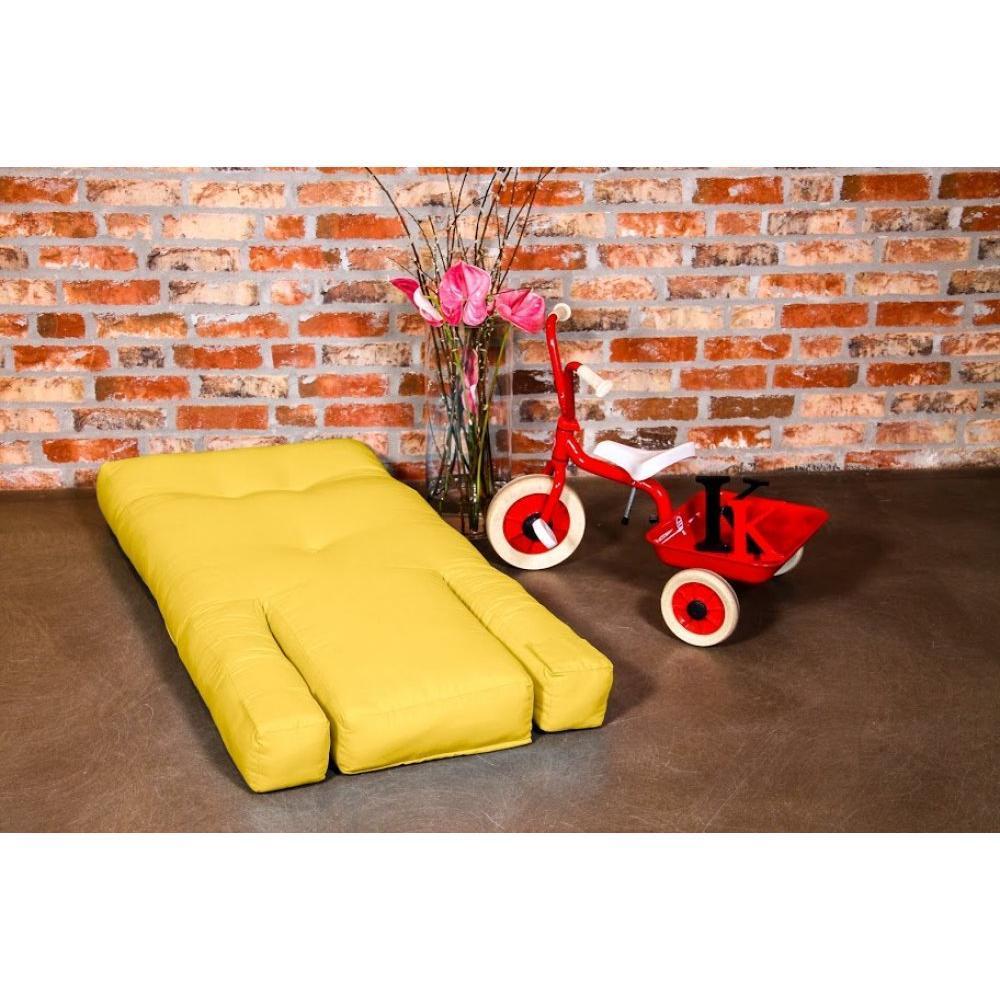 fauteuils futon canap s et convertibles fauteuil enfant lit hippo futon jaune couchage 65 140. Black Bedroom Furniture Sets. Home Design Ideas