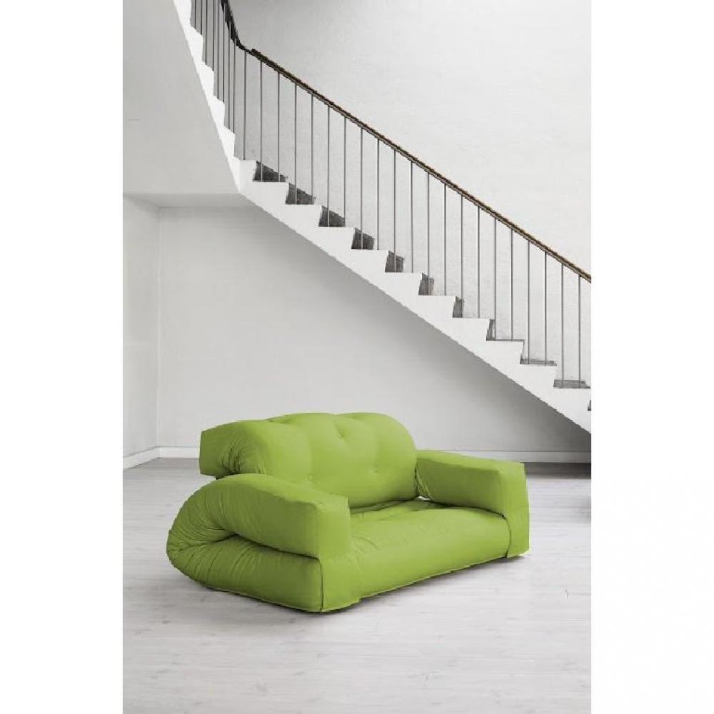 fauteuils convertibles canap s et convertibles fauteuil lit 2 places hippo futon vert lime. Black Bedroom Furniture Sets. Home Design Ideas