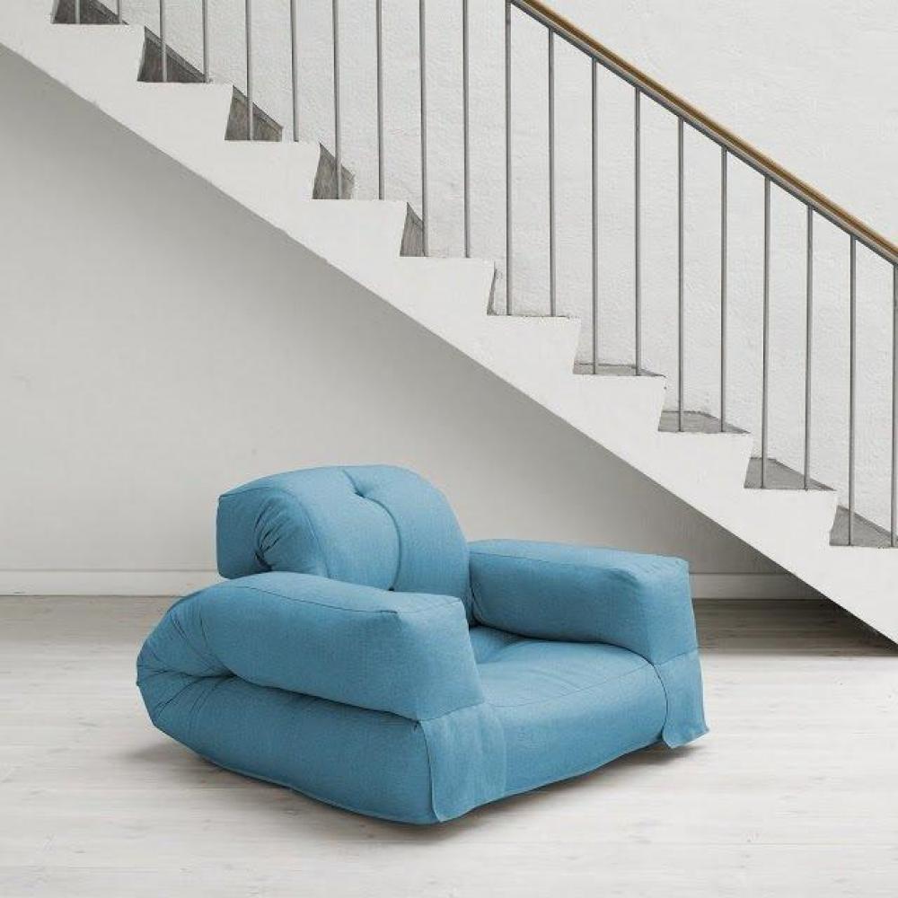 fauteuils convertibles canap s et convertibles fauteuil lit hippo futon bleu azur couchage 90. Black Bedroom Furniture Sets. Home Design Ideas