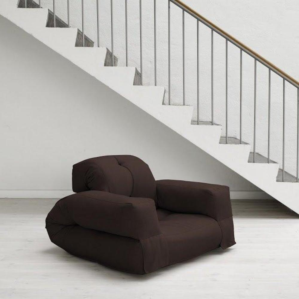 Fauteuils et poufs fauteuils et poufs fauteuil lit hippo futon marron couch - Fauteuil futon convertible ...