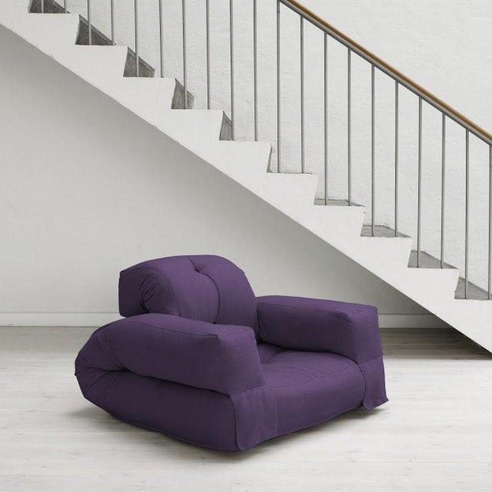 Fauteuil violet 1 for Fauteuil japonais