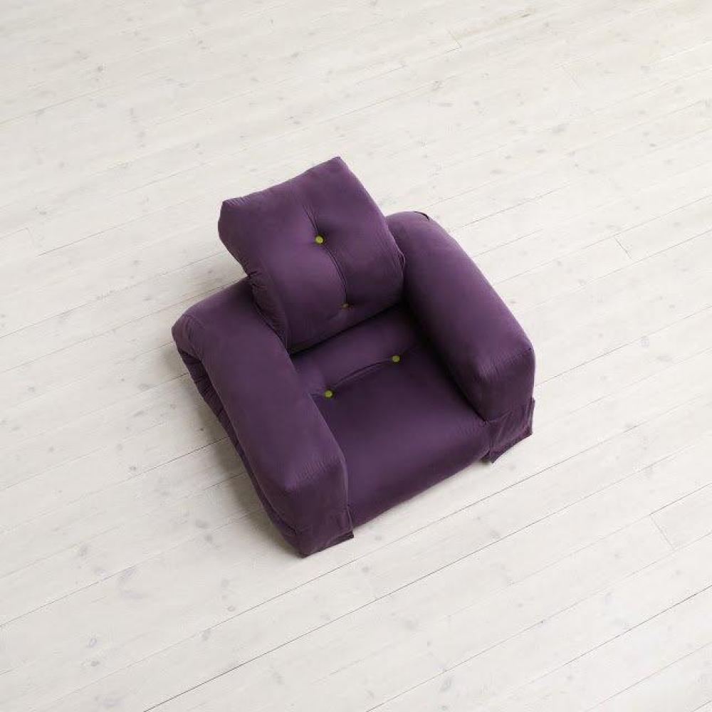 fauteuils convertibles canap s syst me rapido fauteuil lit hippo futon violet couchage 90 200. Black Bedroom Furniture Sets. Home Design Ideas