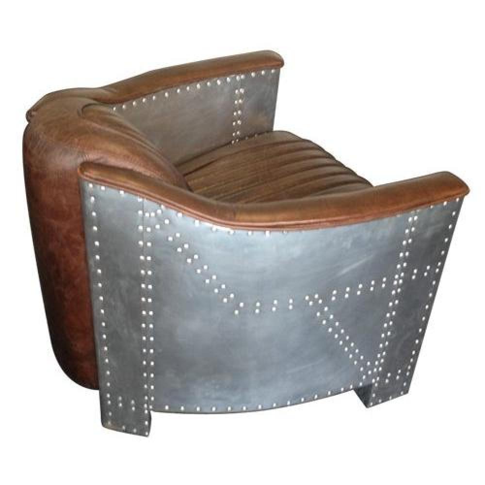 Canap s convertibles canap s et convertibles fauteuil industrie club cuir v - Fauteuil cuir marron vintage ...