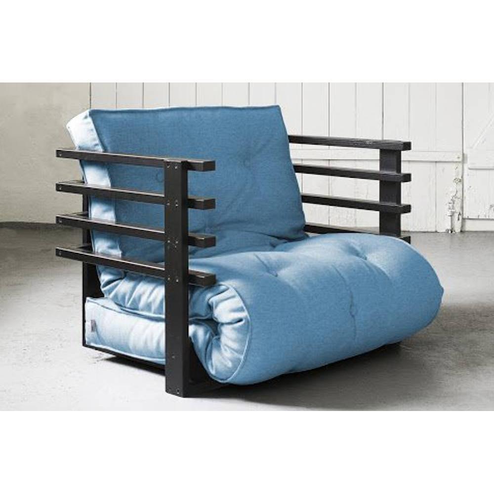 Fauteuils futon canap s et convertibles fauteuil lit noir funk futon bleu a - Fauteuil futon convertible ...
