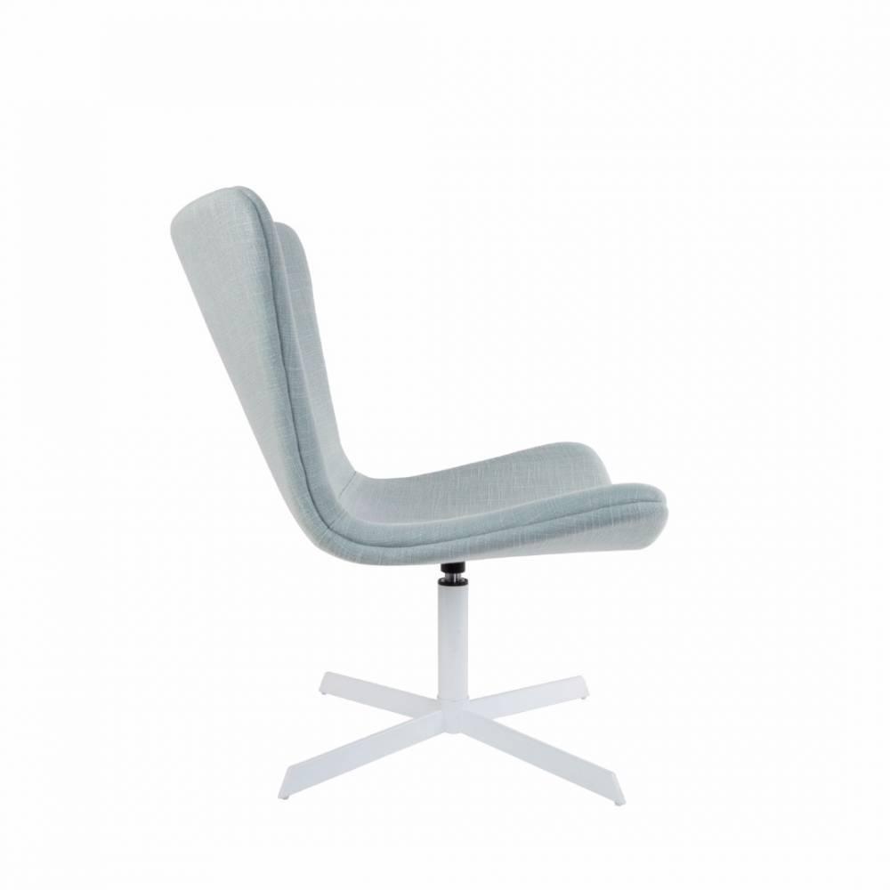 fauteuils et poufs fauteuils et poufs fauteuil pivotant jwell tissu bleu clair inside75. Black Bedroom Furniture Sets. Home Design Ideas