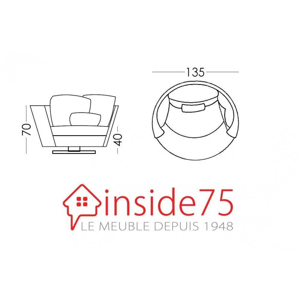 fauteuils et poufs fauteuils et poufs fama fauteuil pivotant design mynest bleu inside75. Black Bedroom Furniture Sets. Home Design Ideas