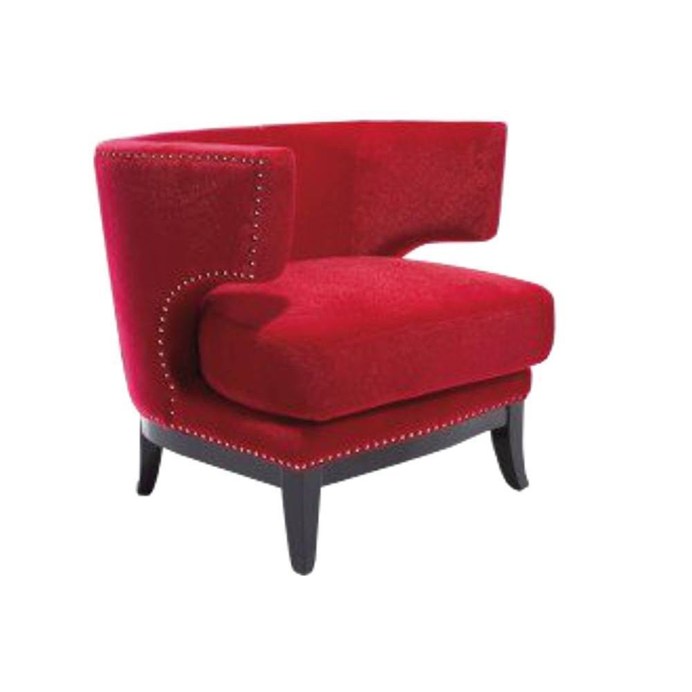 Fauteuils et poufs fauteuils et poufs fauteuil prince velours rouge - Fauteuil velours rouge ...