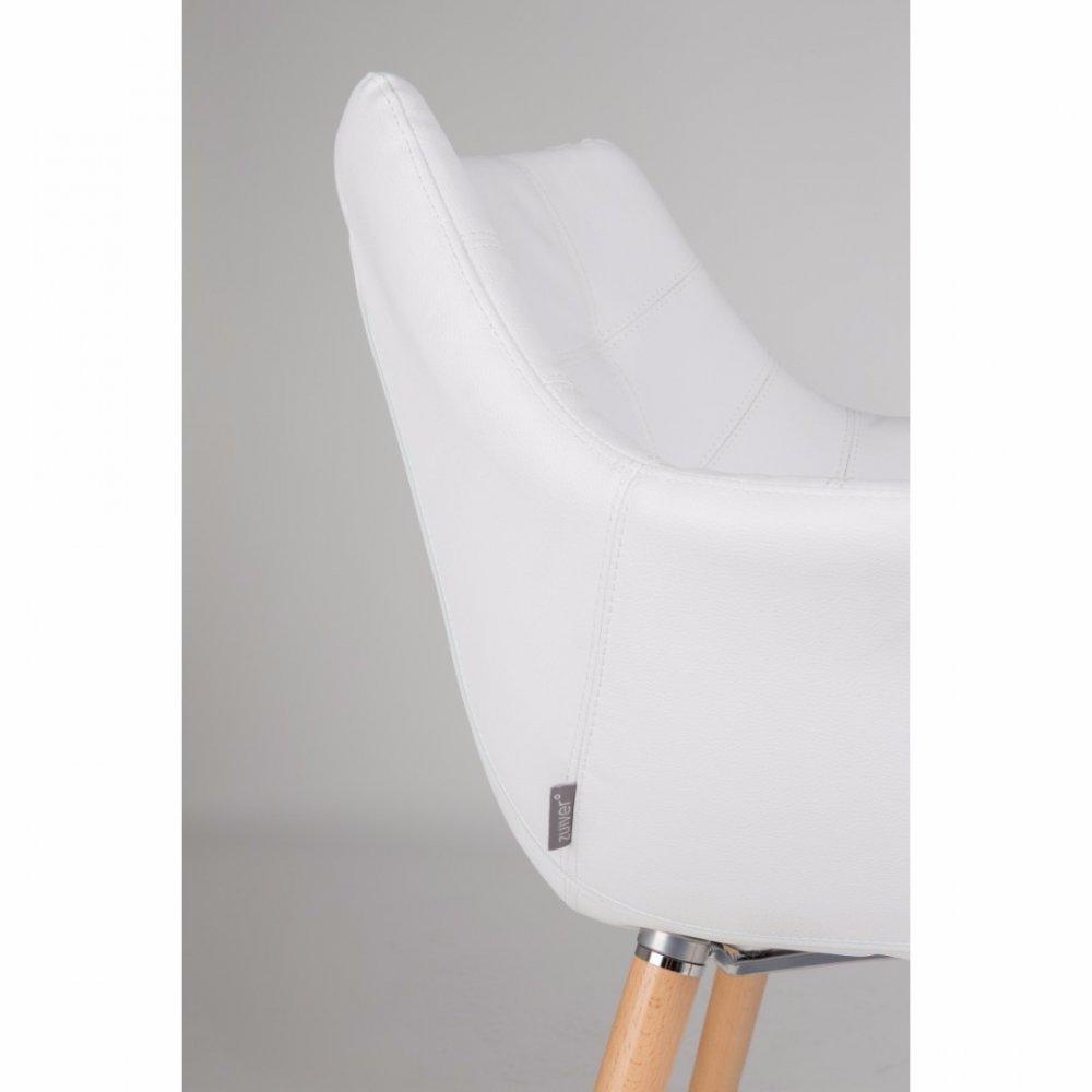 Fauteuils design fauteuils et poufs zuiver fauteuil twelve similicuir blanc - Fauteuil capitonne blanc ...