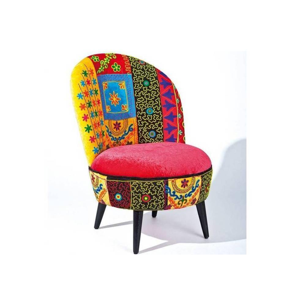 chauffeuses fauteuils et poufs fauteuil vera cruz patchwork inside75. Black Bedroom Furniture Sets. Home Design Ideas