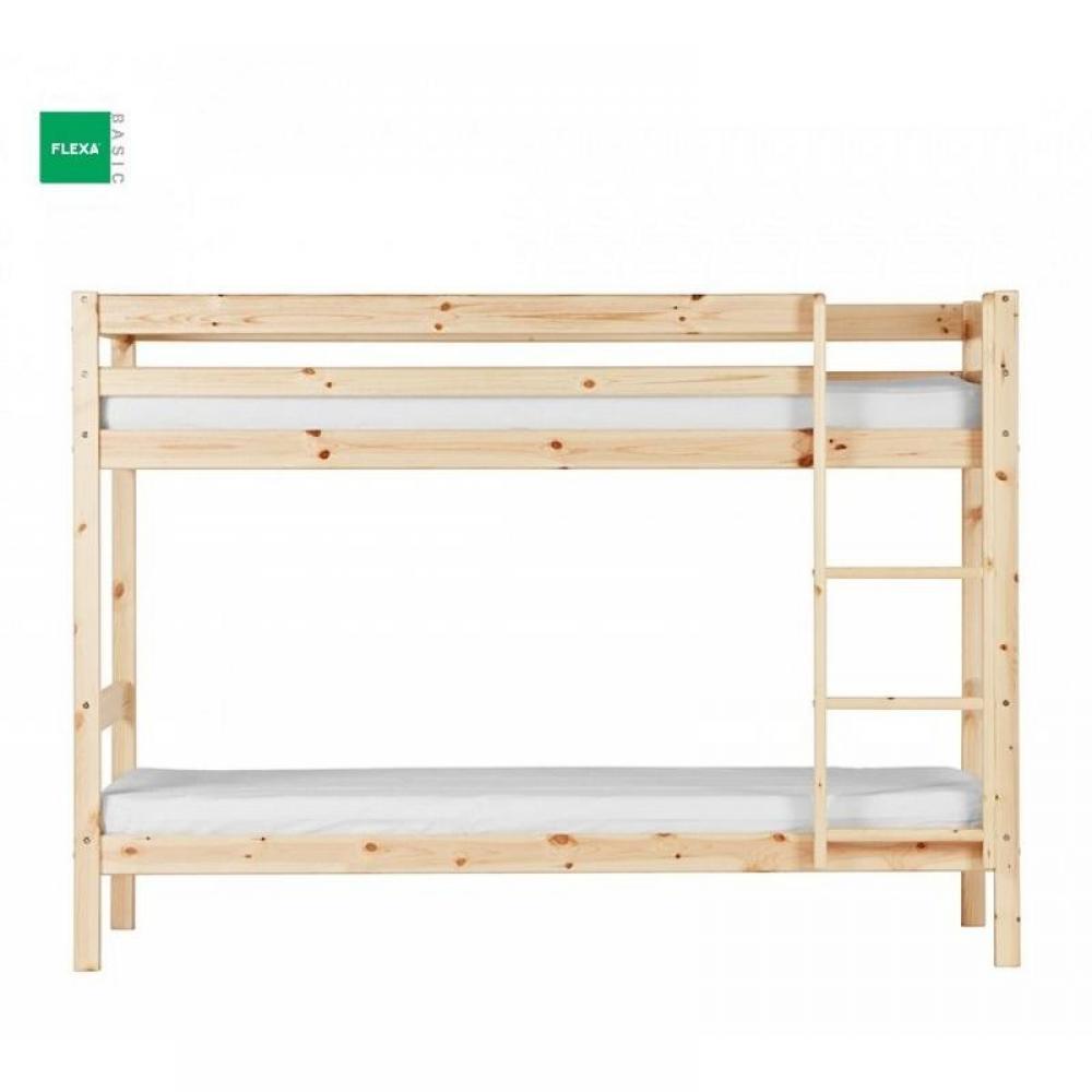 lits chambre literie lit superpos flexa en pin vernis naturel couchage 90 x 200 inside75. Black Bedroom Furniture Sets. Home Design Ideas