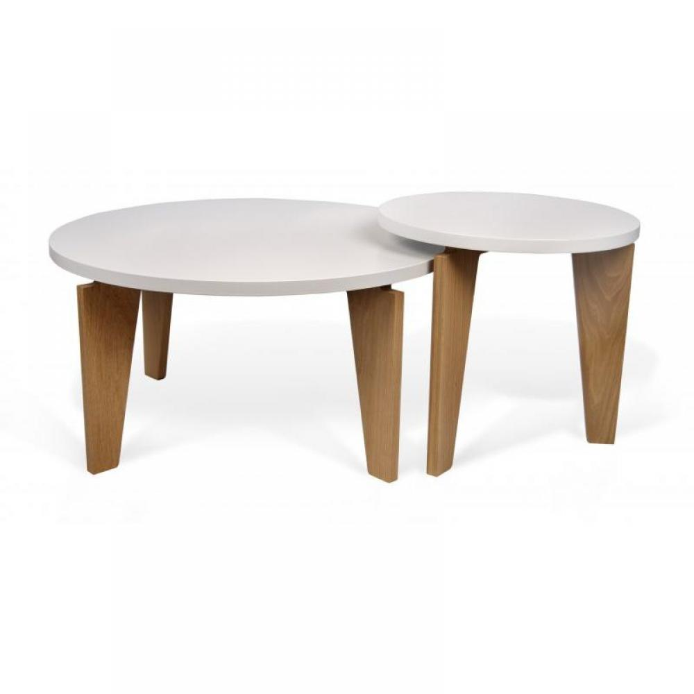 Tables basses tables et chaises temahome magnolia table - Table basse blanc bois ...