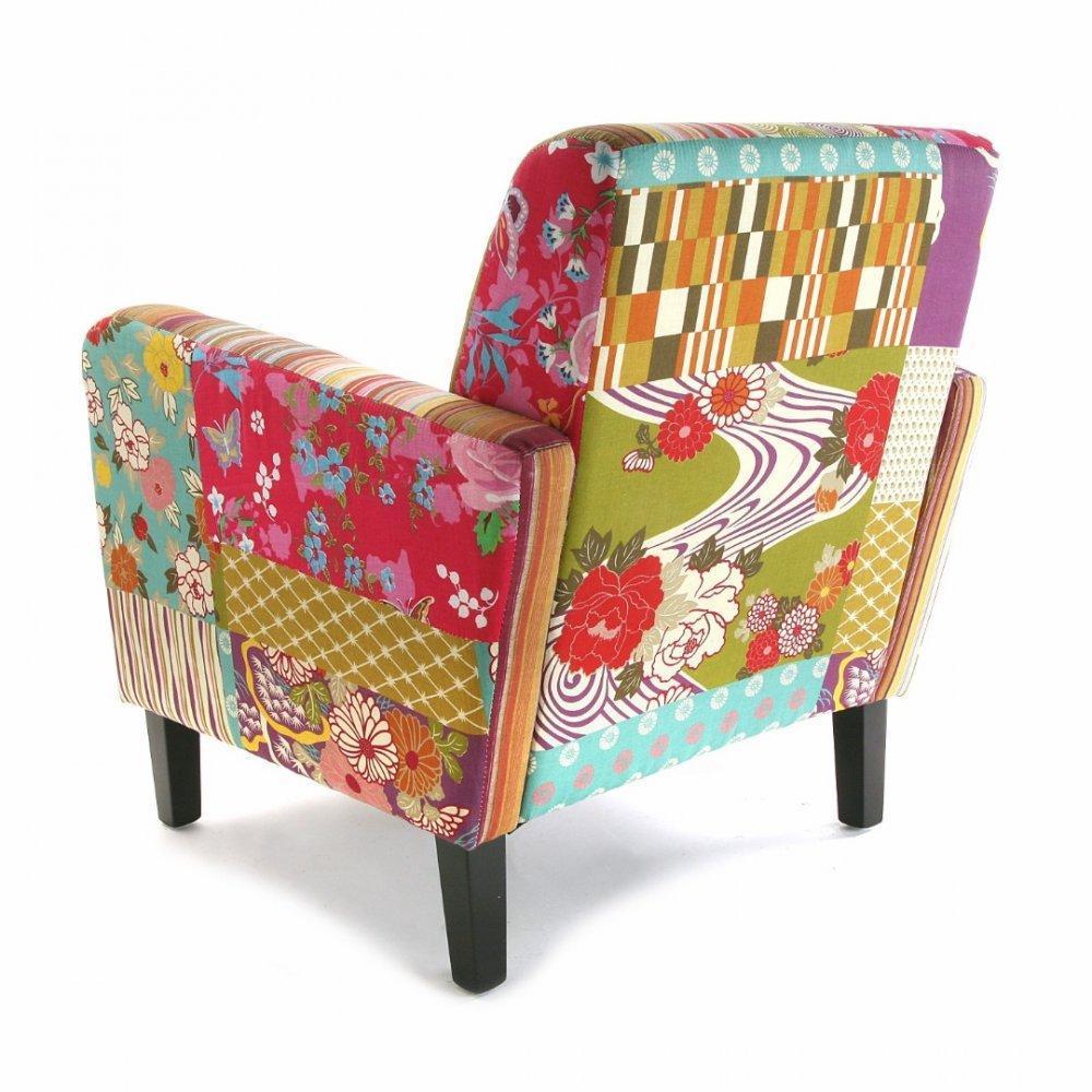 fauteuils design fauteuils et poufs rio fauteuil patchwork avec accoudoirs inside75. Black Bedroom Furniture Sets. Home Design Ideas