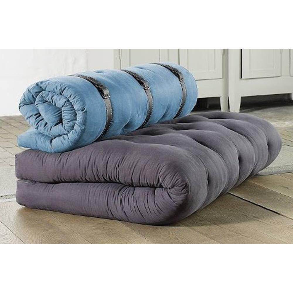 fauteuils convertibles canap s et convertibles chauffeuse 2 places buckle up futon grey. Black Bedroom Furniture Sets. Home Design Ideas