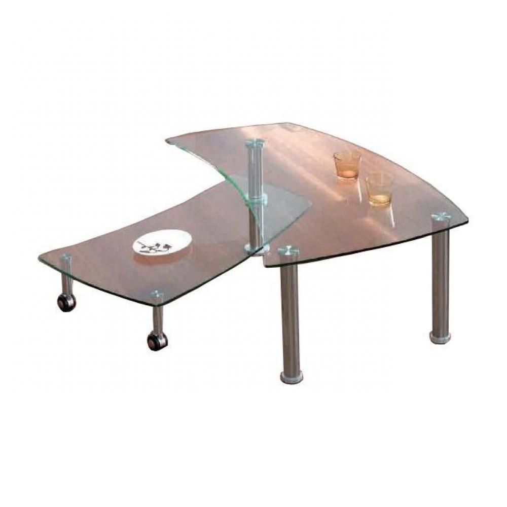 table basse modulable en verre mobilier sur enperdresonlapin. Black Bedroom Furniture Sets. Home Design Ideas