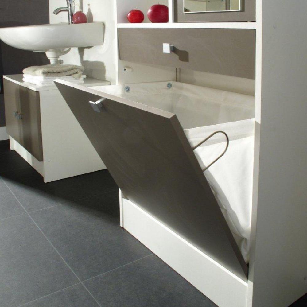 Meubles salle de bain meubles et rangements armoire et - Colonne salle de bain avec panier a linge ...