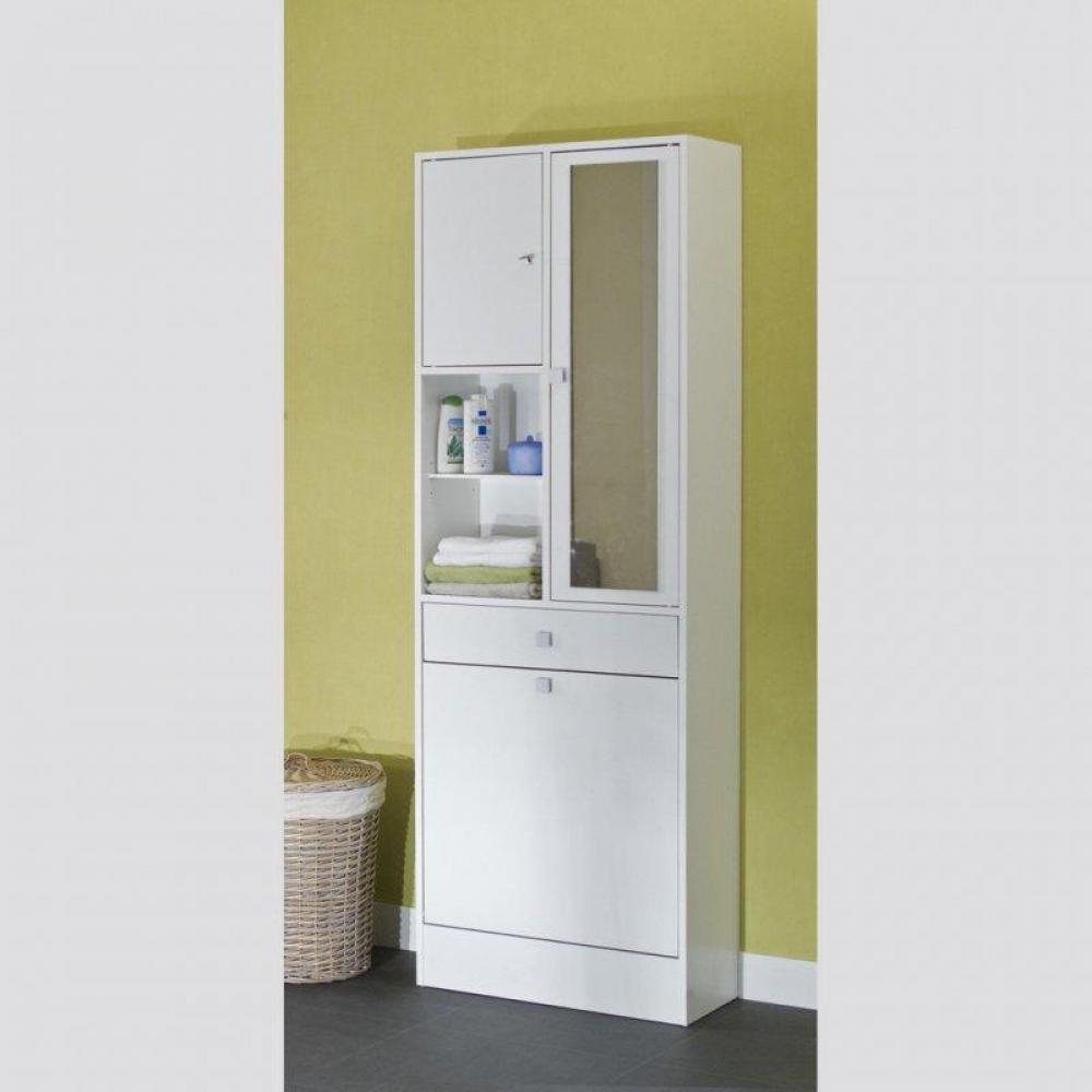 Meubles salle de bain meubles et rangements armoire et - Meuble salle de bain avec bac a linge integre ...