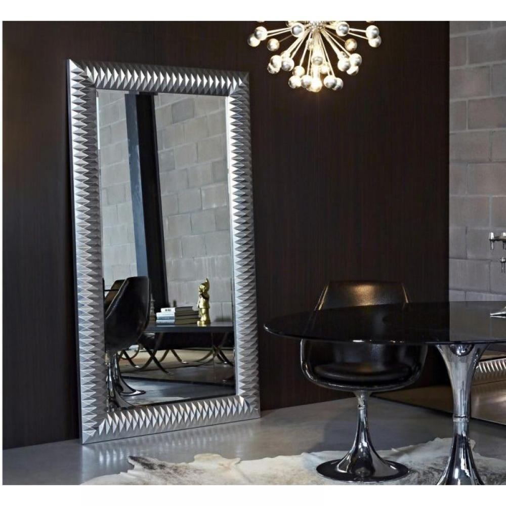 miroirs meubles et rangements hall grand miroir mural finition argent inside75. Black Bedroom Furniture Sets. Home Design Ideas