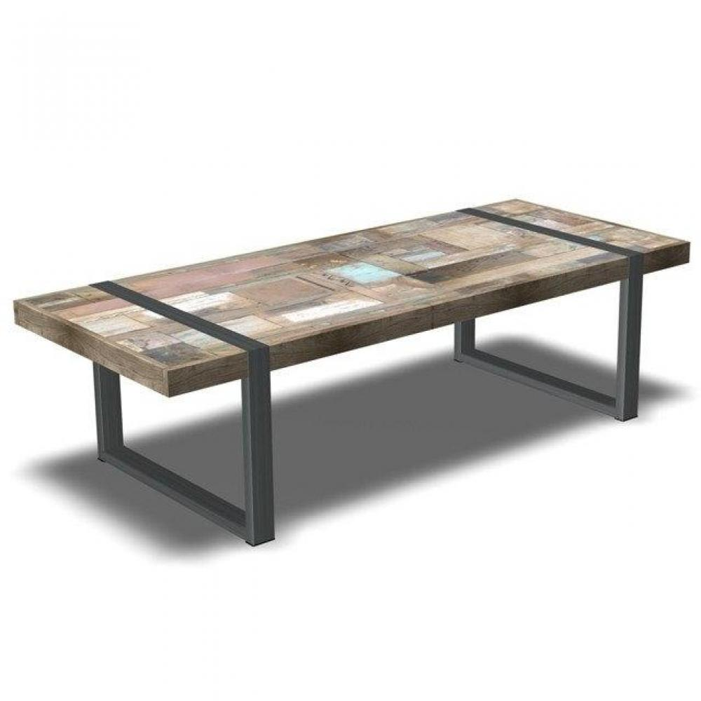 Tables basses tables et chaises table basse h ritage teck massif ancien i - Table basse massif bois ...