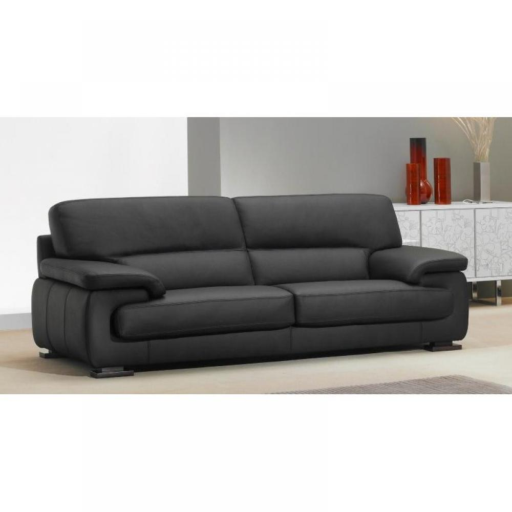 Canap cuir 3 places relax univers canap for Canape convertible 2 places cuir