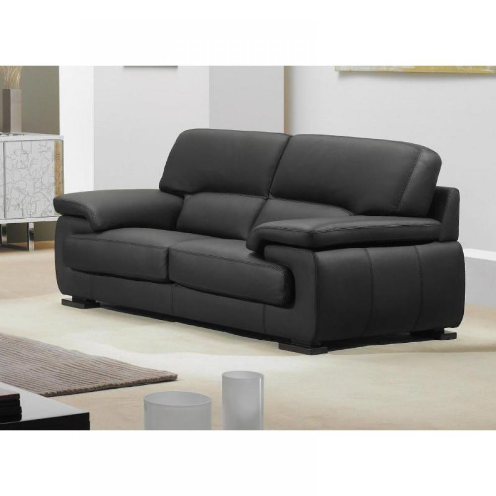 Canap cuir convertible 3 places univers canap - Canape convertible cuir ...