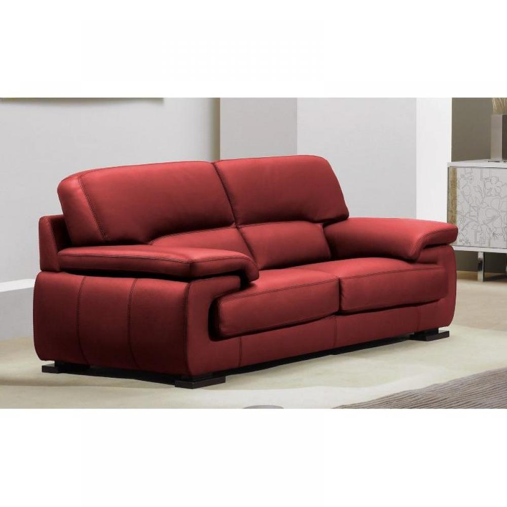 Canape rouge bordeaux maison design for Canape cuir rouge
