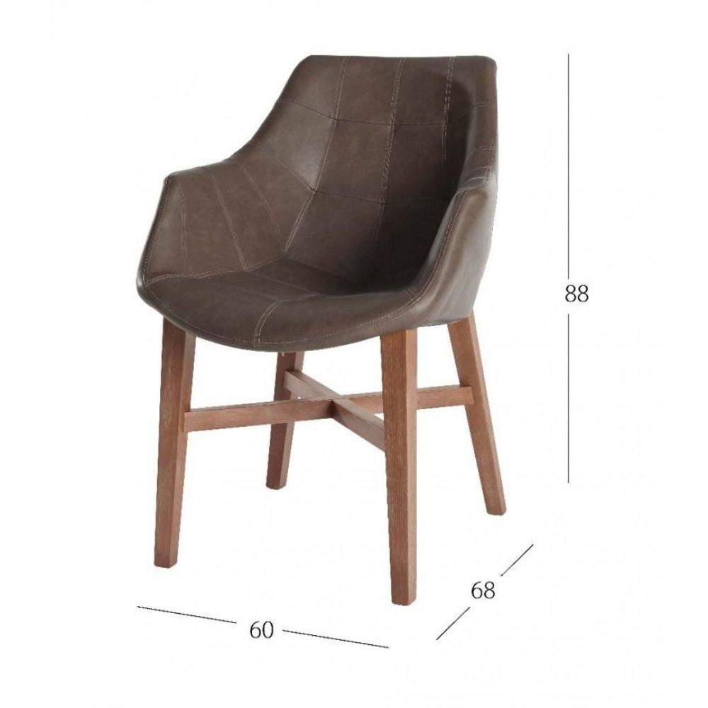 Chaises tables et chaises chaise design hermes marron en for Chaise longue design cuir