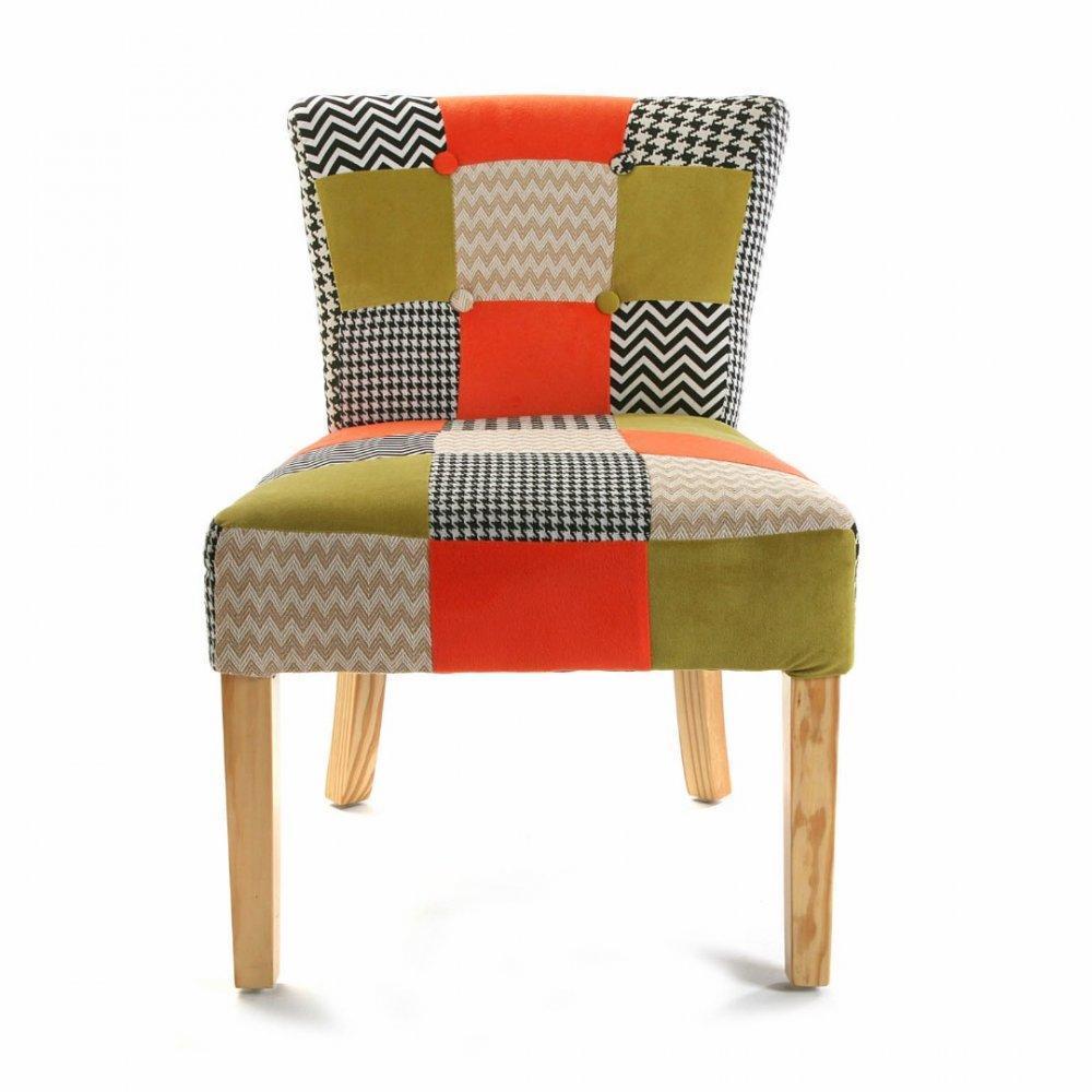 chauffeuses fauteuils et poufs houndstooth fauteuil design patchwork et pied de poule inside75. Black Bedroom Furniture Sets. Home Design Ideas