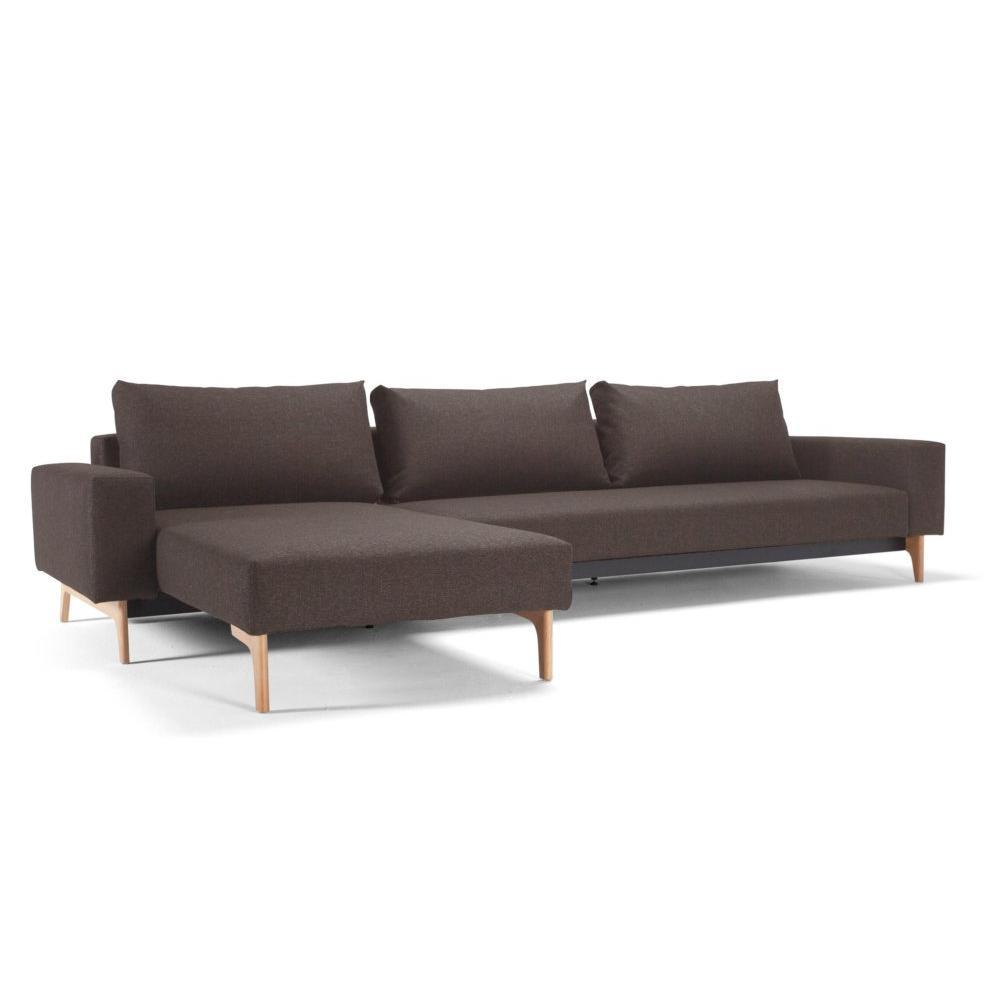 idun lounger canap design marron convertible lit 200 140. Black Bedroom Furniture Sets. Home Design Ideas