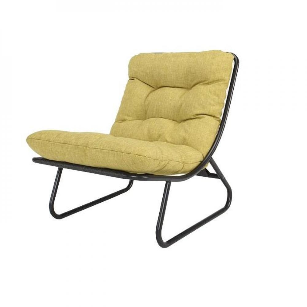 Ikko jaune moutarde fauteuil design capitonn innovation living ebay - Fauteuil jaune moutarde ...