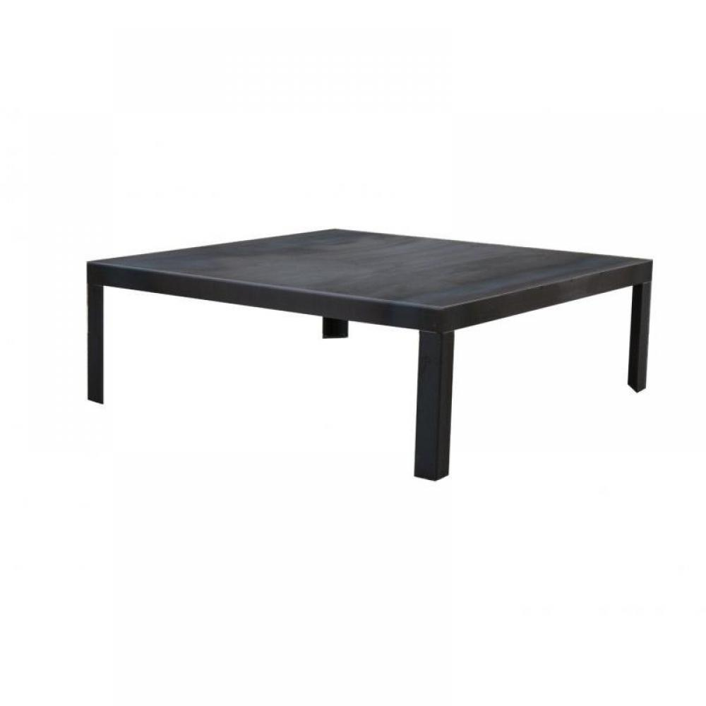 Tables basses meubles et rangements industry table basse m tallique avec pi - Table basse metallique ...