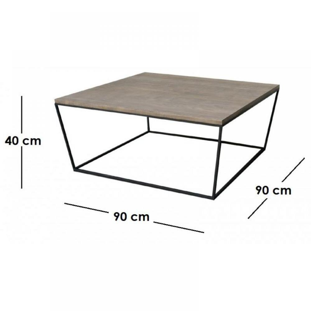 Tables basses meubles et rangements industry table basse for Table 90x90 design