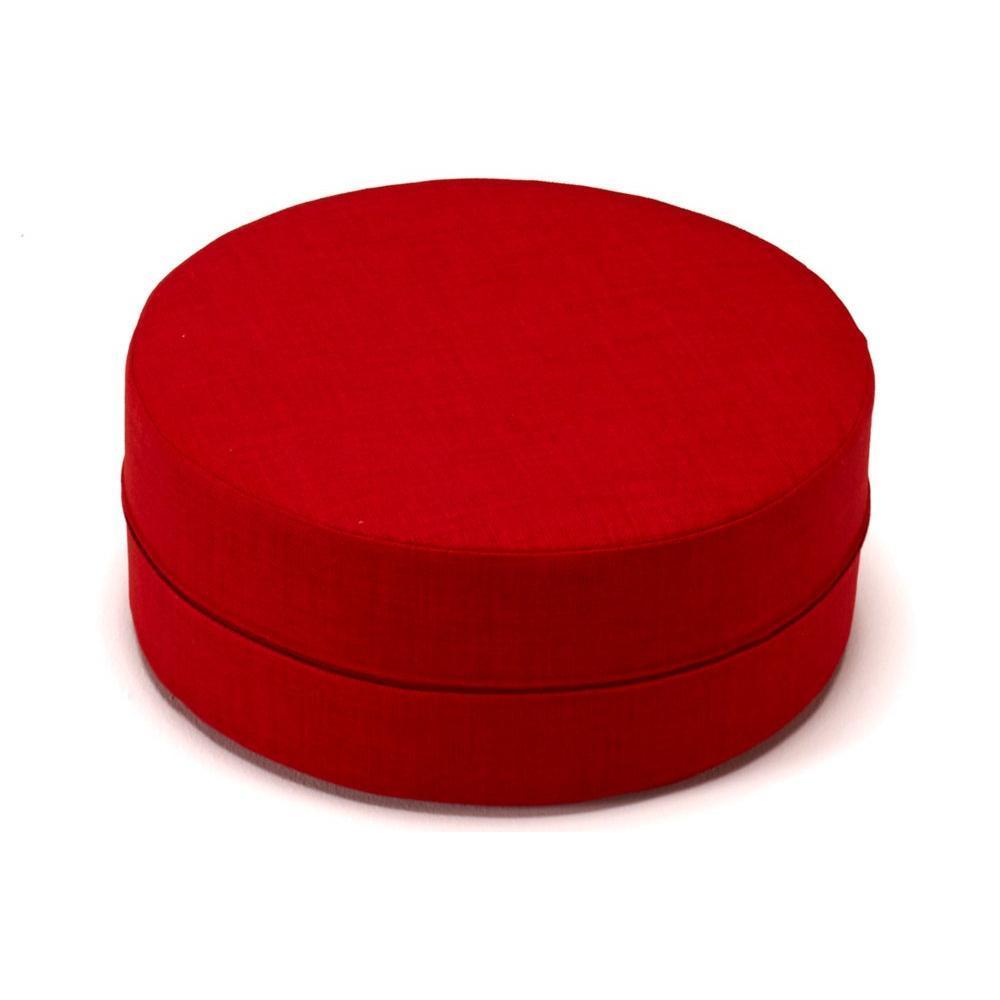 poufs et reposes pieds fauteuils et poufs innovation living pouf deconstructed rouge 50 20cm. Black Bedroom Furniture Sets. Home Design Ideas