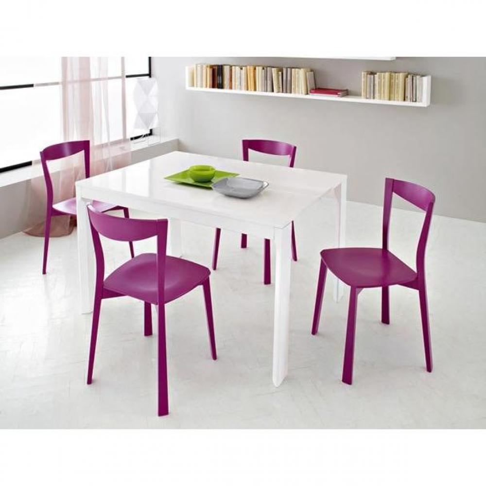 Console extensible integrale 8 bois wengu rallonges - Table bois rallonges integrees ...