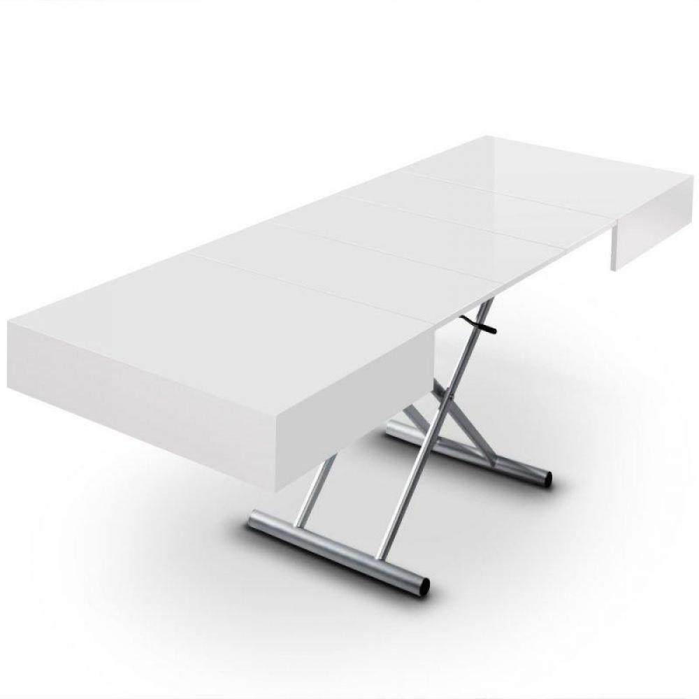Tables relevables tables et chaises table relevable - Table extensible blanc laque ...